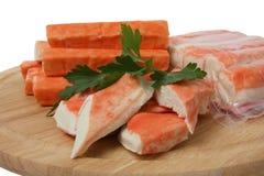 Carne di granchio d'imitazione Fotografia Stock
