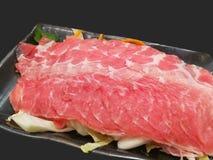 Carne di maiale affettata affettata Fotografia Stock