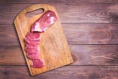 Carne di maiale affettata della carne cruda Fotografia Stock