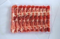 Carne di maiale affettata Shabu di Shabu Fotografie Stock Libere da Diritti