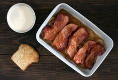 Carne di maiale affumicata al forno Immagine Stock