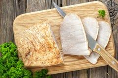 Carne di maiale al forno fredda Fotografia Stock