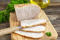 Carne di maiale al forno fredda Fotografie Stock