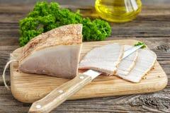 Carne di maiale al forno fredda Fotografie Stock Libere da Diritti