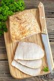 Carne di maiale al forno fredda Fotografia Stock Libera da Diritti