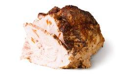 Carne di maiale al forno fredda incisa Fotografia Stock Libera da Diritti