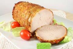 Carne di maiale al forno fredda, prosciutto Immagini Stock