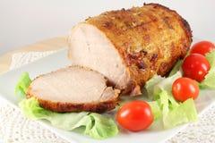 Carne di maiale al forno fredda, prosciutto Fotografia Stock Libera da Diritti