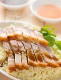 Carne di maiale arrostita cinese croccante Fotografia Stock