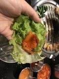 Carne di maiale arrostita con l'arrosto coreano immagini stock libere da diritti