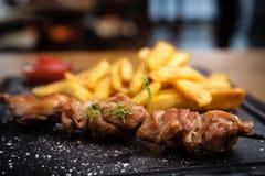 Carne di maiale arrostita del barbecue Fotografia Stock Libera da Diritti