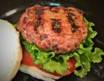 Carne di maiale arrostita Mini Hamburgers Fotografia Stock