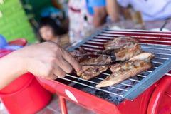 Carne di maiale arrostita sulla stufa immagine stock
