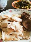 Carne di maiale bollita affettata nel pasto vietnamita fotografia stock libera da diritti