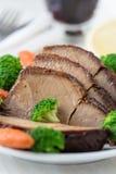 Carne di maiale calda casalinga con le verdure Fotografie Stock Libere da Diritti