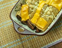 Carne di maiale Chili Verde Enchiladas immagine stock libera da diritti