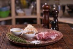 Carne di maiale con le spezie Immagine Stock