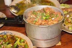 Carne di maiale cotta a vapore con riso immagine stock libera da diritti