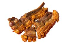 Carne di maiale croccante isolata fotografie stock libere da diritti