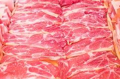 Carne di maiale cruda Fotografia Stock