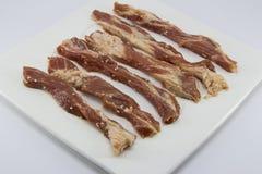 Carne di maiale cruda con sesamo Immagini Stock Libere da Diritti