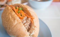 Carne di maiale del pane, alimento vietnamita di stile Fotografie Stock Libere da Diritti