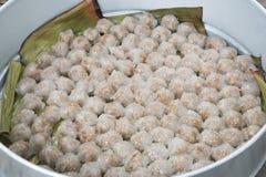 Carne di maiale del sagù del dessert della Tailandia Immagini Stock