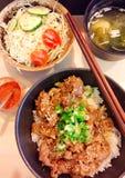 Carne di maiale del sesamo del riso Immagine Stock