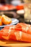 Carne di maiale della fetta Fotografia Stock