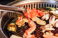 Carne di maiale della fetta immagini stock
