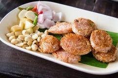 Carne di maiale di Fried Sour Immagine Stock