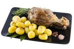 Carne di maiale e patata immagine stock