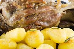 Carne di maiale e patata immagini stock libere da diritti