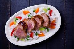 Carne di maiale e verdure Fotografia Stock