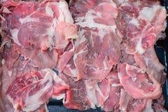 Carne di maiale fresca pronta per cucinare fotografia stock libera da diritti