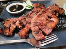 Carne di maiale fritta Immagine Stock