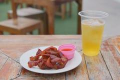 Carne di maiale fritta Immagini Stock Libere da Diritti