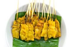 Carne di maiale Satay con la salsa dell'arachide immagini stock libere da diritti