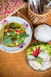 Carne di maiale tailandese della griglia di stile Fotografia Stock Libera da Diritti
