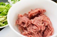 Carne di maiale tritata Fotografia Stock Libera da Diritti