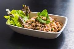 Carne di maiale tritata con la verdura Fotografia Stock