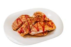 Carne di pollo cucinata immagini stock libere da diritti
