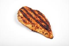 Carne di pollo Pezzi arrostiti del raccordo isolati su fondo bianco Immagine Stock Libera da Diritti