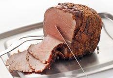 Carne do assado cinzelada Fotografia de Stock