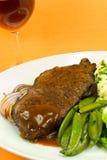 Carne do assado com vinho vermelho Imagem de Stock Royalty Free