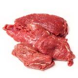 Carne do canguru isolada em um fundo branco do estúdio Fotografia de Stock