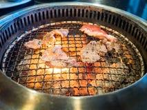 Carne do churrasco sobre Imagens de Stock