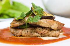 Carne do gourmet - alimento do restaurante Foto de Stock Royalty Free