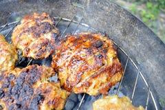 Carne do hamburguer Fotos de Stock