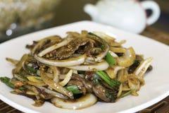 Carne do Mongolian imagens de stock